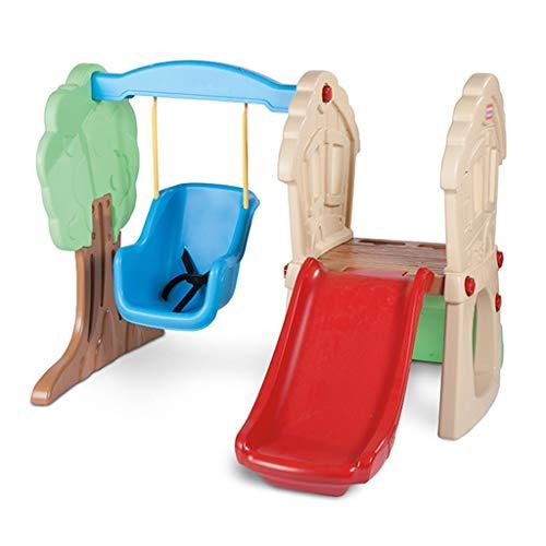 Tobogán para niños tobogán para niños tobogán combinado para uso en interiores tobogán de guardería tobogán para niños tobogán moderno para niños ( Color : Multi-colored , Size : 136*132*104cm )