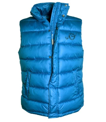 Eight2Nine Herren Steppweste mit Stehkragen by Sublevel, ärmellose warme Weste, Winterjacke MOD21 Blau