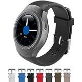 Dokpav® Banda Pulsera Correa de Reloj Inteligente Smartwatch Silicona Deportiva para Samsung Gear S2 - negro