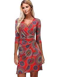 068f0fadbc983 Revdelle - Robe Cache cœur col en V Made in France Manches Longues pour  Femme Myriam