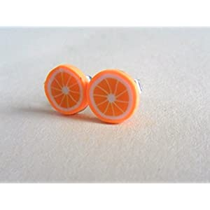 Ohrstecker Orange