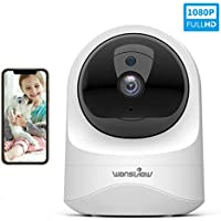 Wansview Cámara IP WiFi, 1080P Cámara Vigilancia WiFi con Visión Noturna, Detección de Movimiento, Audio Bidireccional, Compatible con Alexa, Cámara de Seguridad para Bebé y Mascotas, Q6 Blanco