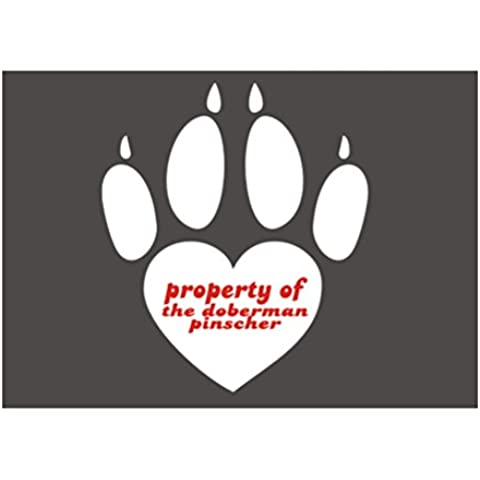 Teeburon Propoerty of Doberman Pinscher Paw Print