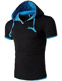 Camisa, Oyedens Hombres de la moda de tipo regular con capucha jersey de hombres de manga corta camiseta