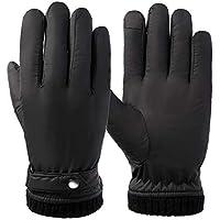 HEJIANGTAO Más les Hommes et Les Femmes de l'écran Tactile de Velours Hiver Chaud gants de ski de Moto Coton Froid imperméable au Vent, mâle