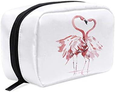 Flamingo Trousse Trousse Trousse de maquillage pour couple et amoureux Trousse de toilette Trousse de voyage pour femme, organiseur portable pochette de rangeHommes t B07MK2GB2G | Elaborer  8c94f7