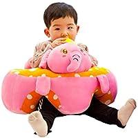 Gereton Portátil Soporte de Bebé Sofá Sofá de Peluche Suave Animal en Forma de Aprendizaje para Sentarse Silla de Juguete de Peluche para Niños de 0-12 Meses