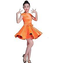 Cvbndfe Vestido de Baile Latino con Borla para niñas d674cab1548