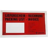 1000 St. selbstklebende Dokumententaschen 22,5 x 11cm DIN Lang Lieferscheintaschen