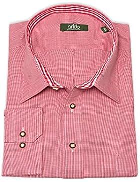 arido Herren Trachtenhemd langarm XXL rot Kleinkaro 112537
