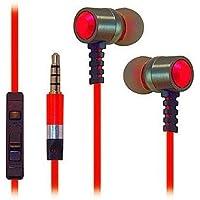 Super alta chiarezza Resistente in Metallo con isolamento acustico 3,5mm stereo auricolari/cuffie/cuffie per Verizon Wireless Ellipsis 7(Rosso) & controllo del volume + Borsa da trasporto