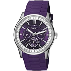 Esprit TP10544 Purple Silicone Strap Women's Quartz Watch