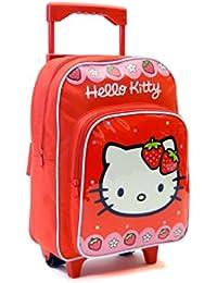 Mochila Carro Hello Kitty Capacidad 34 x 13 x 30 cms