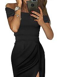 7086fe04f2 Aleumdr Mujer Vestido de Noche Falda Elegante para Fiesta Vestido de Moda  Size S-XXL