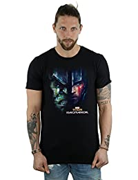 Marvel Men's Thor Ragnarok Hulk Split Face T-Shirt