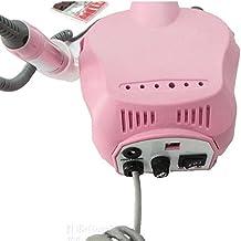 WANGXN Profesional Electric Nail Drill Machine Kit Manicura Pedicura Nails Salón con Pedal, Rosa , pink