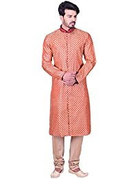 Manyavar Men's Regular Fit Kurta & Churidar Set (SDES298)