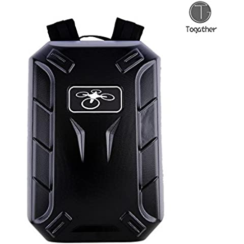Togather® Negro Mochila Hard Shell Funda bolsa Carry portátil para aviones no tripulados DJI Phantom Phantom 2 y 3 Visión