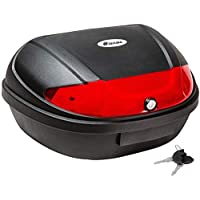 TecTake Universal baúl de moto scooter maleta XXL motocicleta topcase para 2 cascos