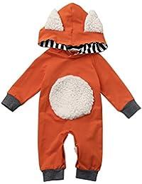 ropa de bebé, Honestyi Conjunto de modelado de animales 3D infantil Traje de sudadera con capucha de manga larga 2017 nuevo mono del otoño y del invierno