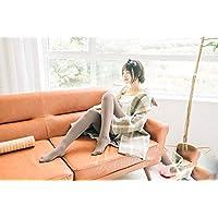 Leggings Espesamiento de Otoño E Invierno Más Modelos de Terciopelo, Pantimedias de Rayas Verticales, Pantalones con Fondo de Mujer,Caqui,Una Talla