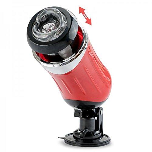 Teleskop-Masturbator mit Stoßfunktion - Rot