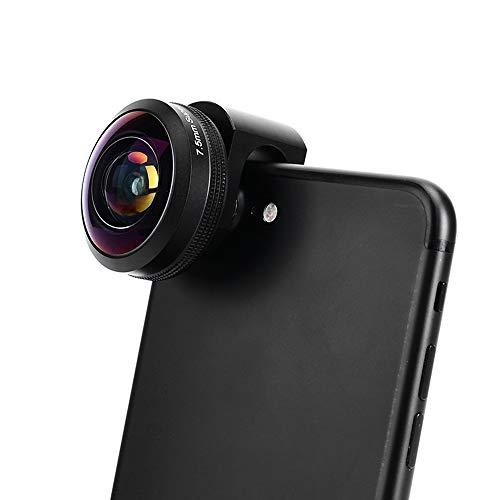 ZLC Handy-Objektiv DREI in-one-Handy-Spiegelreflexobjektiv 238 ° kein vignettenschweres Fisheye 16MM verzerrungsfreies Weitwinkel-Makro-kompatibles Smartphone-Tablet