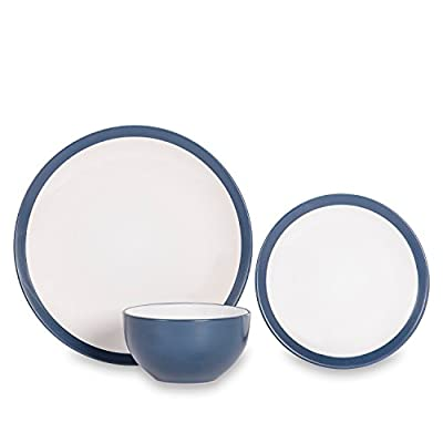 Sabichi Noah Navy Dinner Set, Stone, Grey Or 12 Piece 20.5 x 28.5 x 29 cm