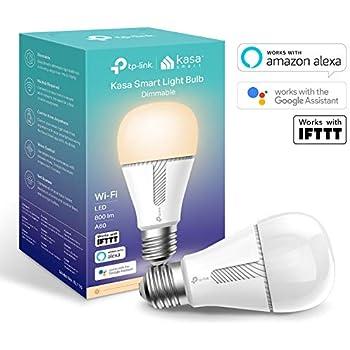 kasa smart wifi light bulb by tp link e27 b22 10w works with amazon alexa echo and echo dot. Black Bedroom Furniture Sets. Home Design Ideas