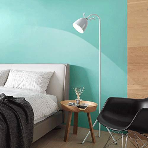 LAMPES DE SOL ZXC YWXLight Macaron Lampadaire Nordic Chambre Salon Étude De Salon Mignon Rose Creative Antler Eye LED Lampe De Table (Couleur : Blanc)