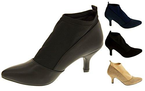 Poshh! Bloc Chaussures à Talons de la Cheville Extensible Femmes