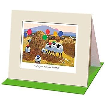 Lambacraft Sheep DesignI Wool Always Love Ewe Text Anniversary//Valentine//Birthday Greeting Card with Blank Inside1 Units