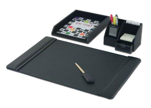 Dacasso Desktop Organizer da scrivania, Colore: Nero, Pezzi