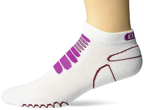 Eurosocks 6309Sprint Silber Low Cut Leichtes Running Socks-Pair, Damen Herren Mädchen Jungen Unisex, weiß/violett, S (Peds Crew Socken)