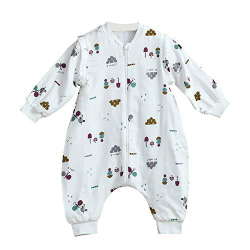 LPATTERN Baby/Kinder Jungen/Mädchen Schlafsack Kinderschlafsack Langarm Schlafsack Baumwolle Schlafanzug mit Bein, Klein Pilz, 98/104(Label: 80)