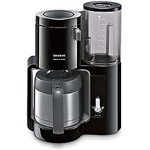Siemens TC80503 - Cafetera de goteo (1100 W, 8 tazas), color negro