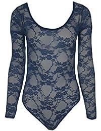New Elegance Haut en dentelle florale Corps Body pour femme Taille 36–42