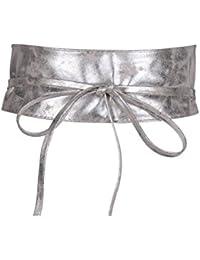 KRISP 14987, Cinturón para Mujer, Marrón, Talla Única