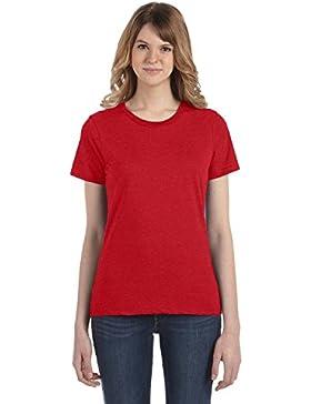 Anvil- Camiseta Fashion semi ajustada de manga corta para chica/mujer