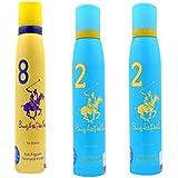 Beverly Hills Polo Club 1 Fragrance Spray For Men 150 Ml ( Set Of 2 )