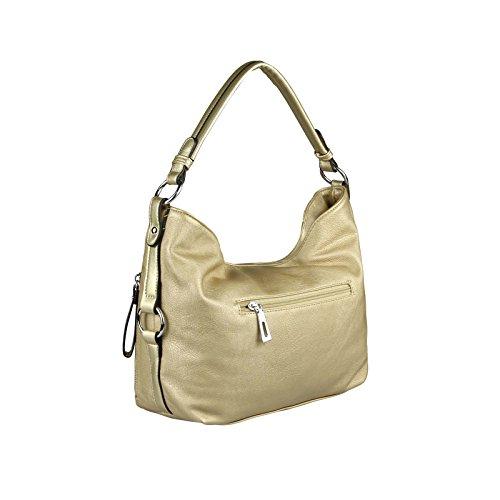 OBC DAMEN TASCHE HANDTASCHE Shopper METALLIC Hobo-Bag Henkeltasche Schultertasche Umhängetasche CrossOver Tote-Bag Gold Gold
