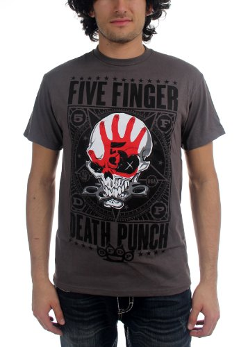 Five Finger Death Punch -  T-shirt - Uomo Grigio Small