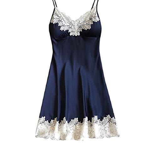 VECDY Frauen Unterwäsche Damen Satin Nachtwäsche Damen Damen Nachtwäsche Nachthemd Sexy Dessous mit Brustpolstern Kleiden