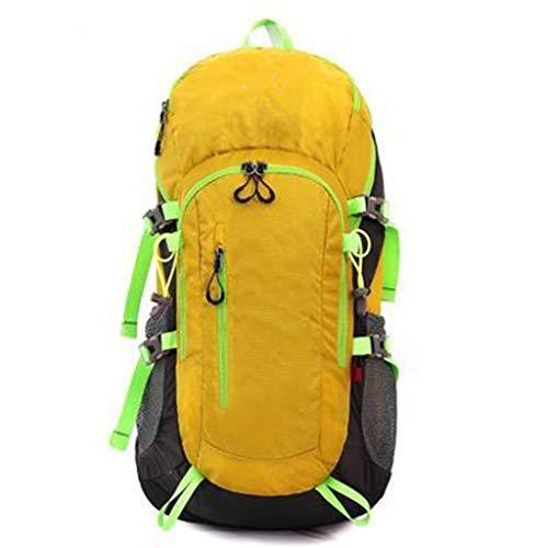 Reiserucksack, Multifunktions-Freizeit zu Fuß Bergsteigen Nylon Wasserdicht Atmungsaktiv Verschleißfest Outdoor Eis- Und Schneebewegung Camping-Paket,Yellow (Eis-pakete)