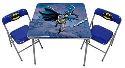 O 'Kids 0112014Batman Kinder Metall Tisch und Stuhl-Set, 48,3cm Höhe, 62,2cm breit, Länge 62,2cm, multicolor