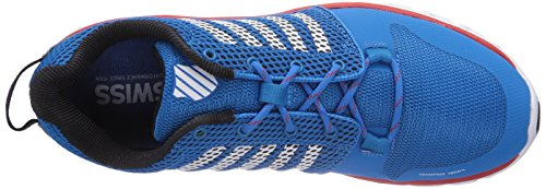 K-Swiss Performance Ks Fw X Lite-methyl Blue/White/Fiery Red-m, Chaussures de fitness homme Multicolore - Mehrfarbig (MethylBlue/White/FieryRed)