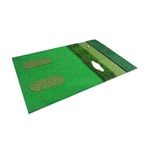 Golf Mats Golf Übungsmatte Golf Driving Mat Gummimatte Gummi Tees Multifunktionale Indoor, grün, 100cm*150cm*0.8cm Mat ? Tee
