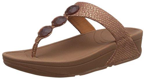 6509b78aa354 FitFlop Women s Petra Copper Leather Fashion Sandals - 5 UK India (38 EU)