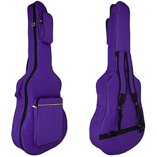 "MINGZE 41"" Funda para guitarra, bolsas de guitarra, bandolera ajustable a prueba de agua, variedad de colores (Púrpura)"
