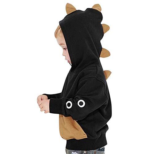 c1157475e YanHoo Ropa para niños Sudadera con Capucha de Dinosaurio con Capucha de  Manga Larga para niños